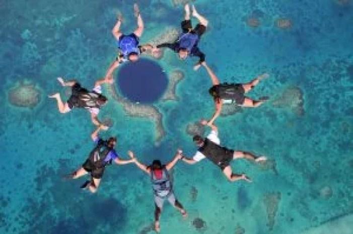 Skydive Belize Blue Hole