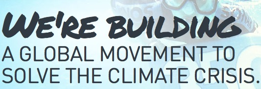 global climate movement blue
