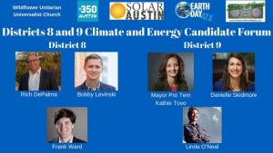Districts 8 and 9 Climate and Energy Candidate Forum @ Wildflower Church | Austin | Texas | United States