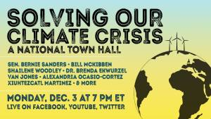 Solving Our Climate Crisis: A National Town Hall @ United States Capitol Visitor Center | Washington | District of Columbia | United States