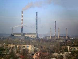 Thermal power plant in Slovianks, Ukraine