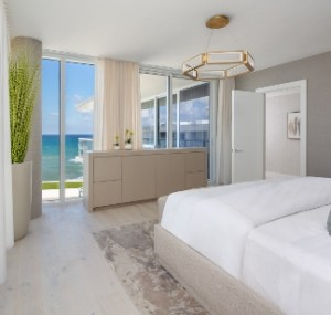 Master Bedroom with Oceanview at 3550 South Ocean