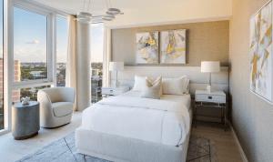 Bedroom at 3550 South Ocean Condominiums
