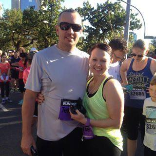 Lisa and Brad at last year's 'Run for the Kids'
