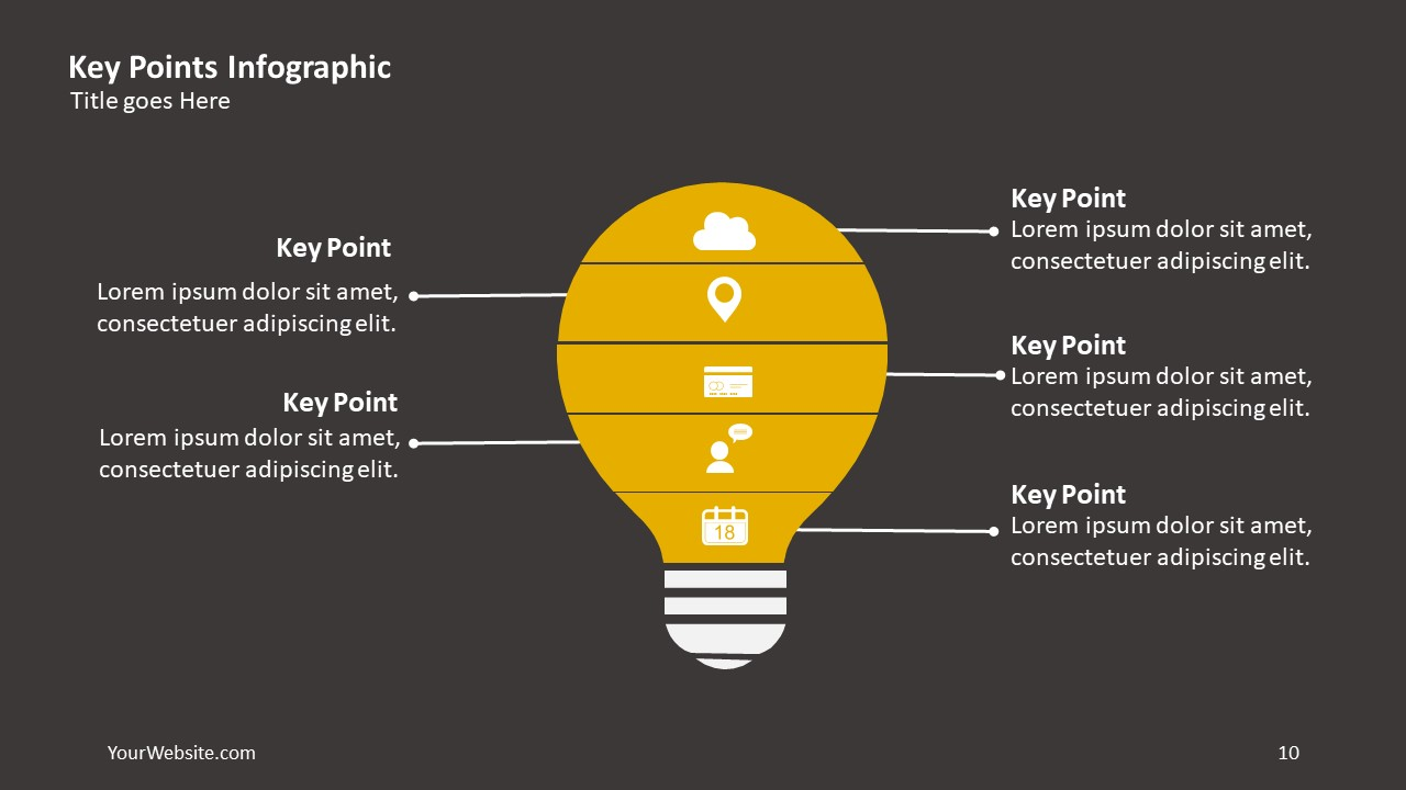 Key Points PPT Infographic Slide Ocean