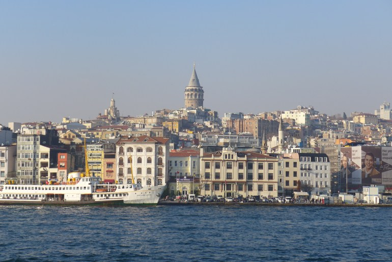 Galata Tower rising above the European side