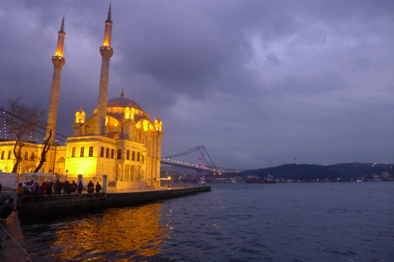 The quintessential Istanbul photograph – Ortaköy mosque, towering at the foot of the Fatih Sultan Mehmet bridge