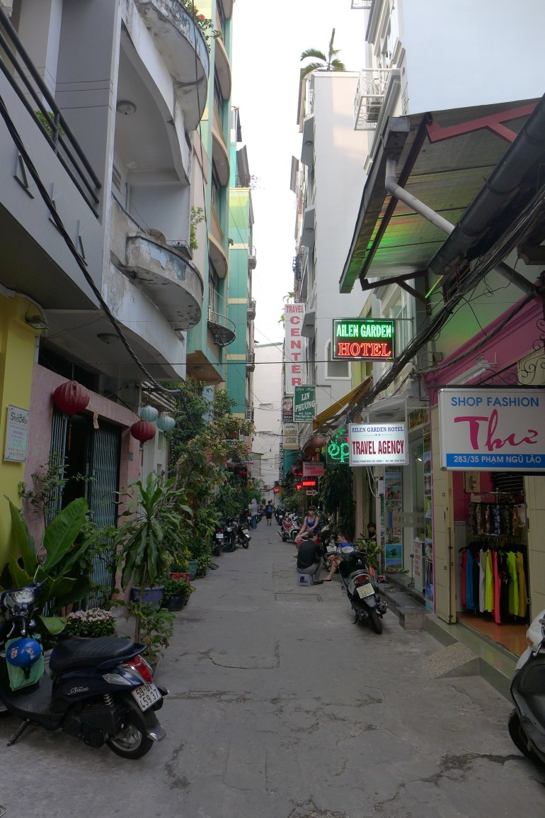 Alley behind the hostel