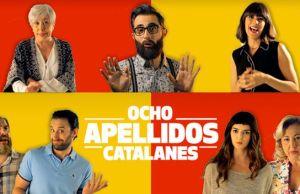 Cartel '8 apellidos catalanes'