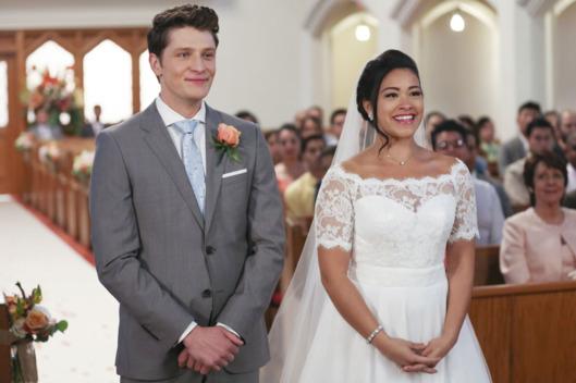 Jane y Michael en su boda.