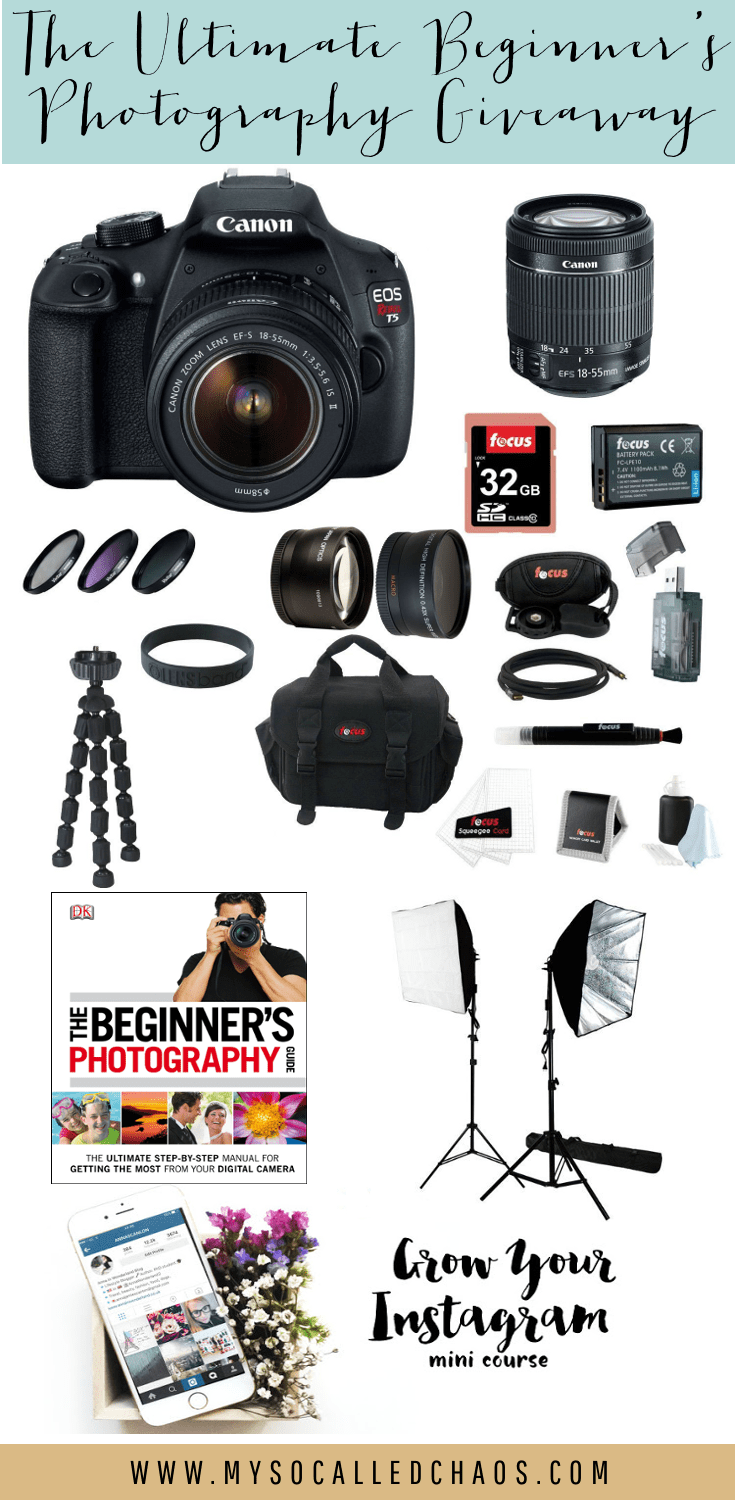 The Ultimate Beginners Photography Giveaway