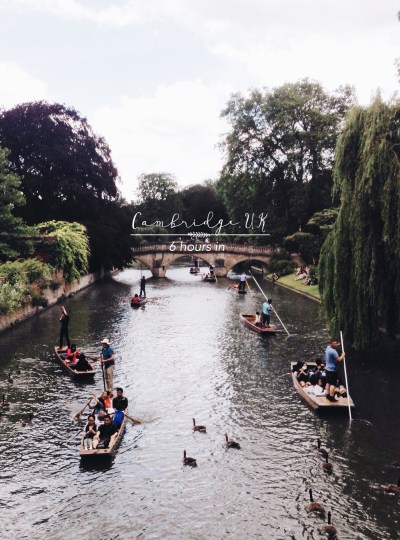 TRAVEL | Cambridge in 6 Hours