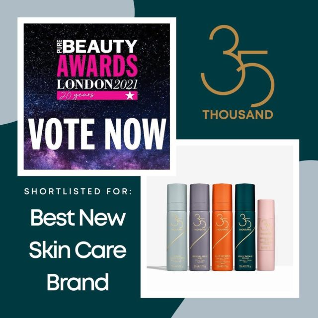 Well this is exciting…We've been shortlisted for 'Best New Skin Care Brand' in the Pure Beauty Awards! Voting is open today & tomorrow (link in bio) so if you have a moment to spare we would love your vote! (We promise to buy some of your daughter's Girl Scout cookies). Thank you!