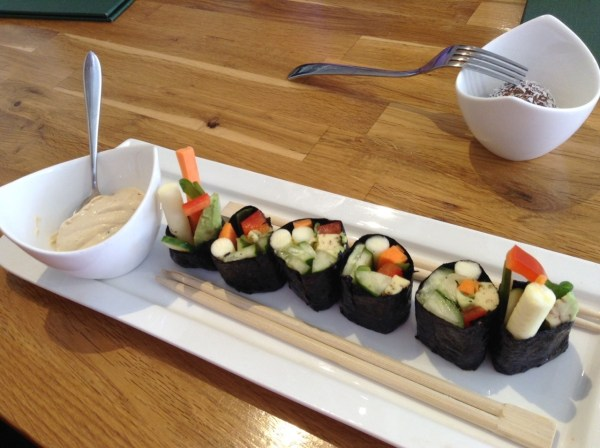 Nori Rolls with Chipotle Mayonnaise rawlicious