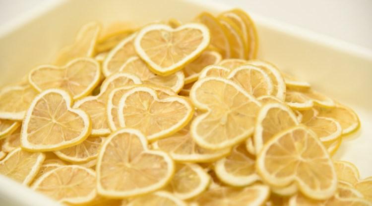 ハートレモンの輪切り