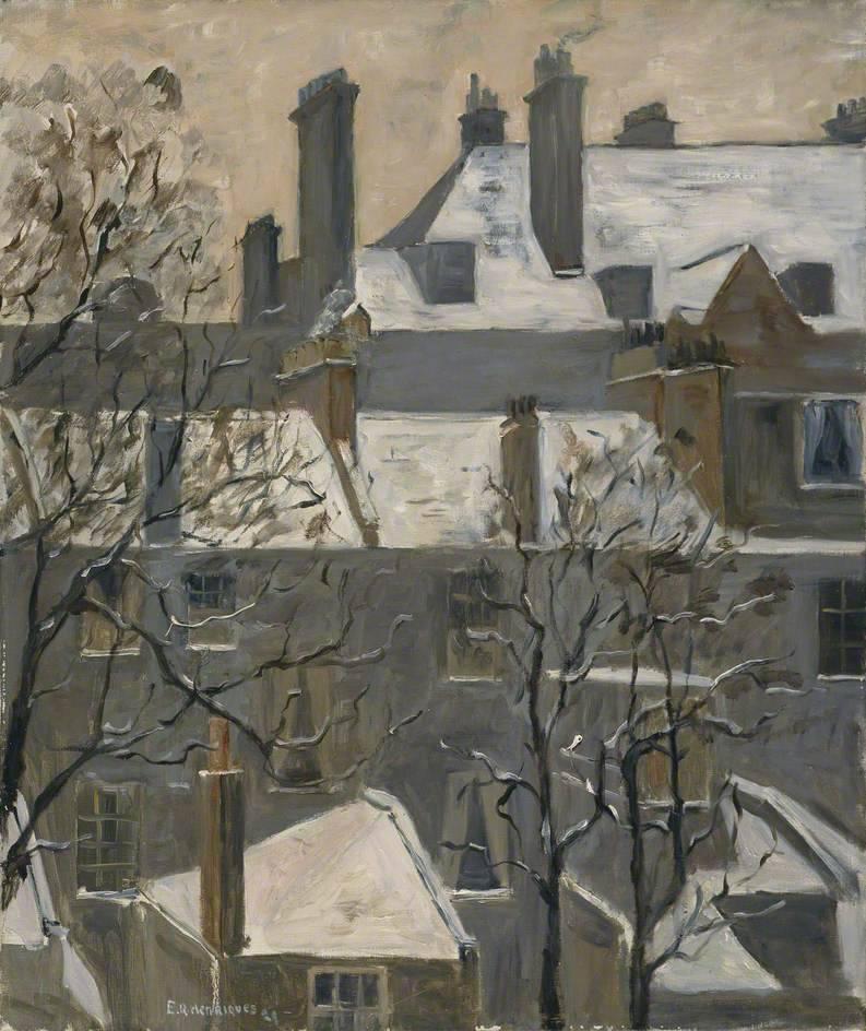 birdsong217:Ethel Quixano Henriques ( British, 1868-1936)February, 1929. Oil on canvas.