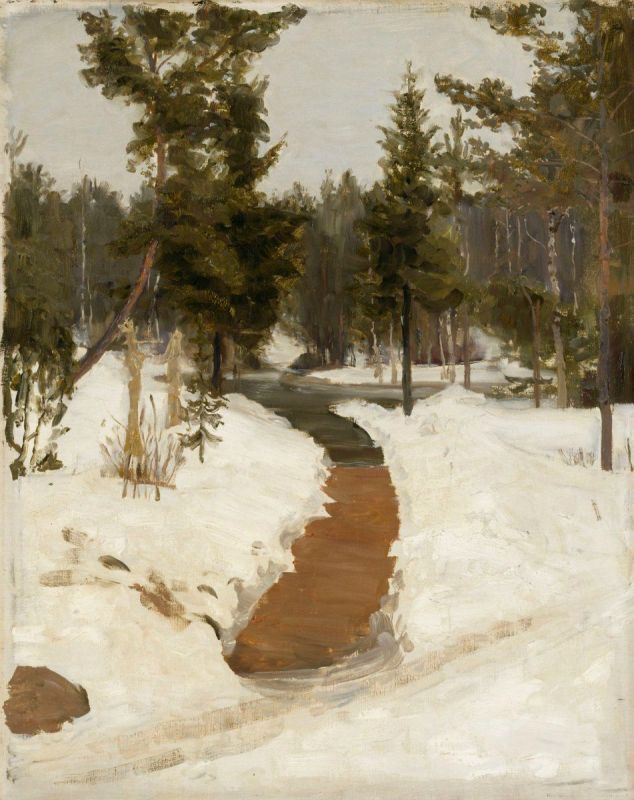 Ilya Repin (Russia 1844-1930)Winter Scene