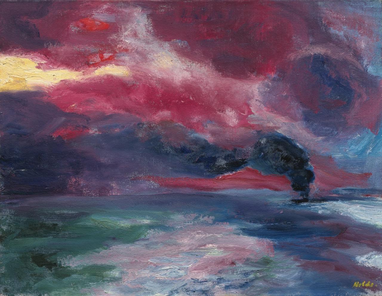 lawrenceleemagnuson: Emil Nolde (1867-1956)Abendliches Herbstmeer - Autumn Evening Sea (1951)oil on canvas68.5 x 88.5 cm