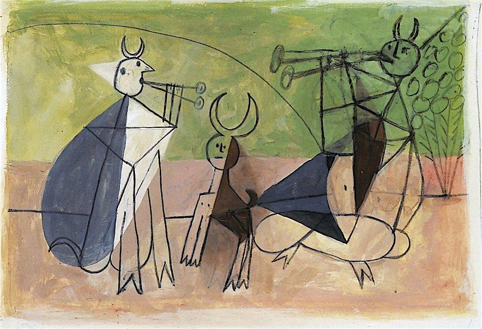 Pablo Picasso - Concert de Faunes - 1946