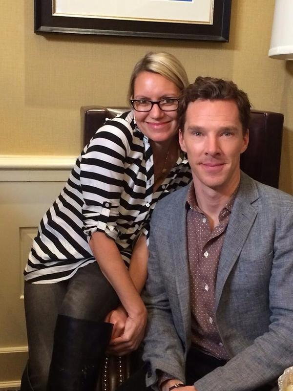 Gillian Telling   The new @peoplemag is out, so here's a shameless pic of me interviewing Benedict Cumberbatch! #cumberbitches