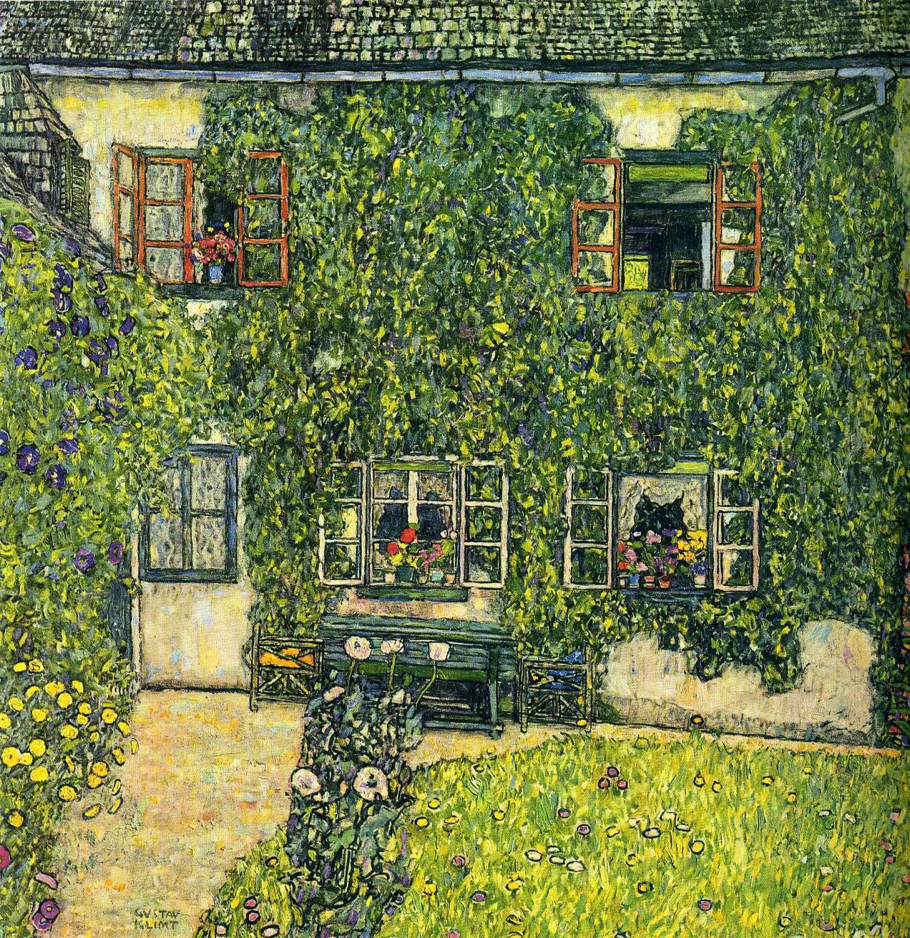 thusreluctant: The House of Guardaboschi by Gustav Klimt