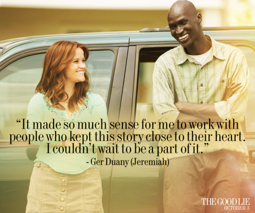 See Ger Duany & Reese Witherspoon in the inspirational true story of The Good Lie, now playing in theaters. Get tickets.