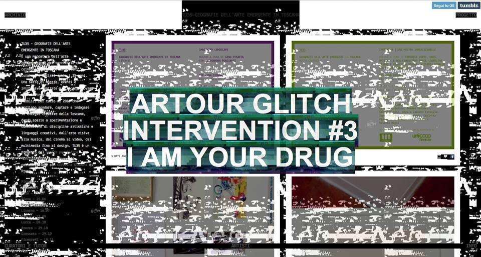 Artour Glitch, Intervention #3 I am your drug, 2015 | Massa Carrara Ipotenusa. Una mostra irrealizzabile