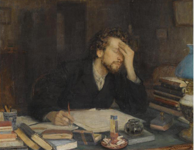 russian-style:Leonid Pasternak - The Passion of creating, 1880s