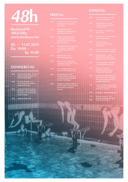 Ab Donnerstag den 9. Juli, 19.00 Uhr bis Samstag den 11. Juli, 19.00 Uhr sendet bauhaus.fm wieder durchgängiges Programm von, über und neben der Summaery der Bauhaus-Universität Weimar.