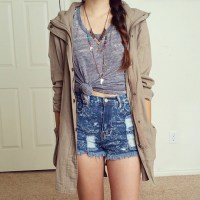 jacket x ripped jeans