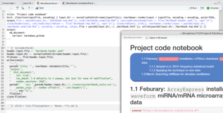 A modular Rmarkdown workbook in action I'm now using a…   R-bloggers