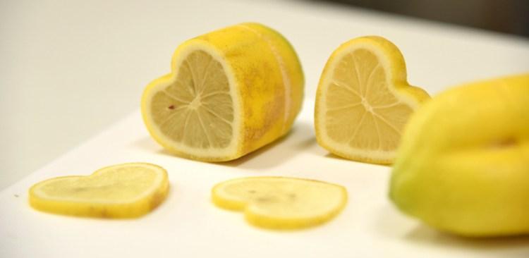 ハートレモンの切り口