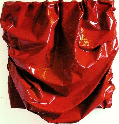 daisyparris:Loose Fit VII (Red) 2000Oil on canvas 150 x 140cmAngela De La Cruz