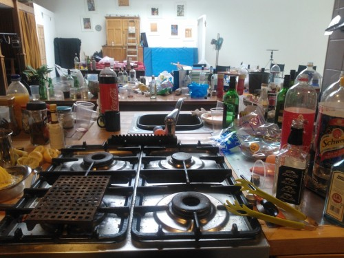This is what happens when you celebrate your graduation at university… #Cleaningday
