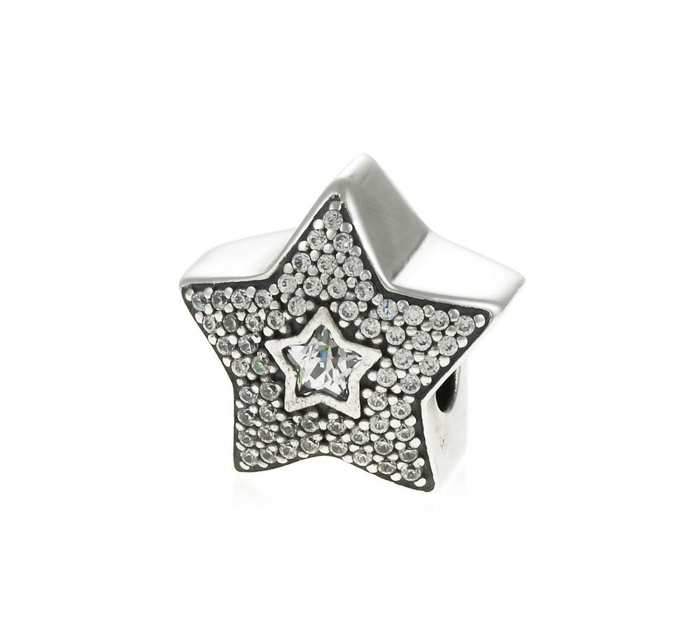 Pandora Pav Wishing Star Charm 791384CZ John Greed Jewellery