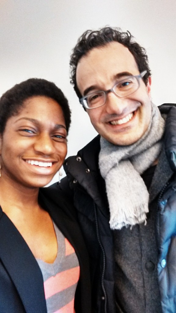 Selfie with Radiolab host Jad Abumrad! It was his suggestion :D