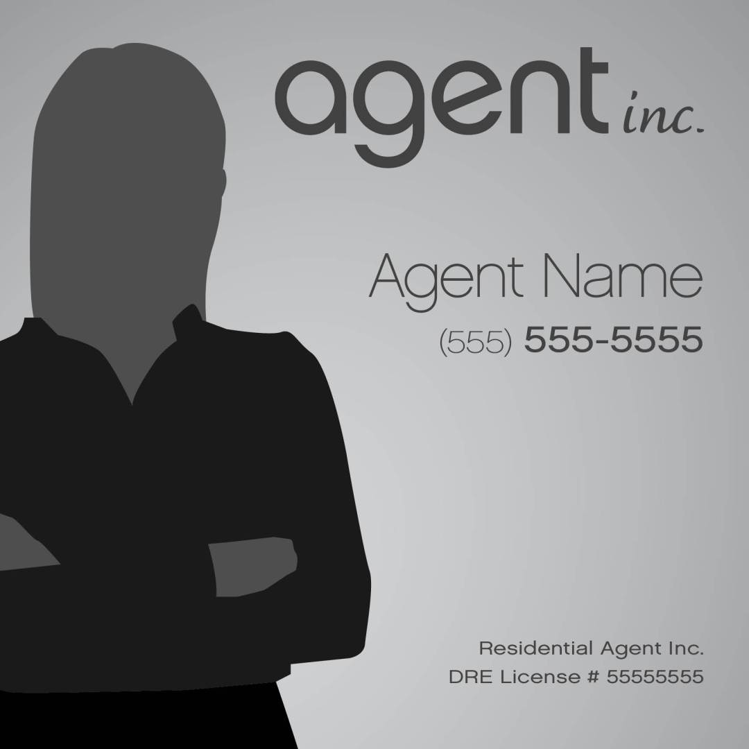 agent inc. property listing sign template