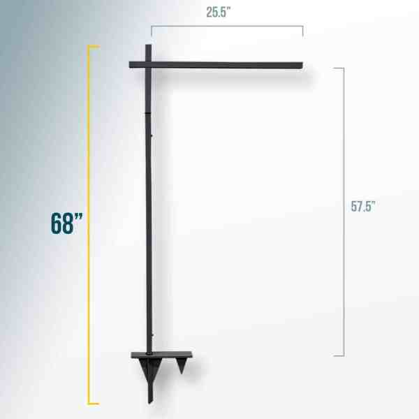 Property Listing Sign Post Black Large