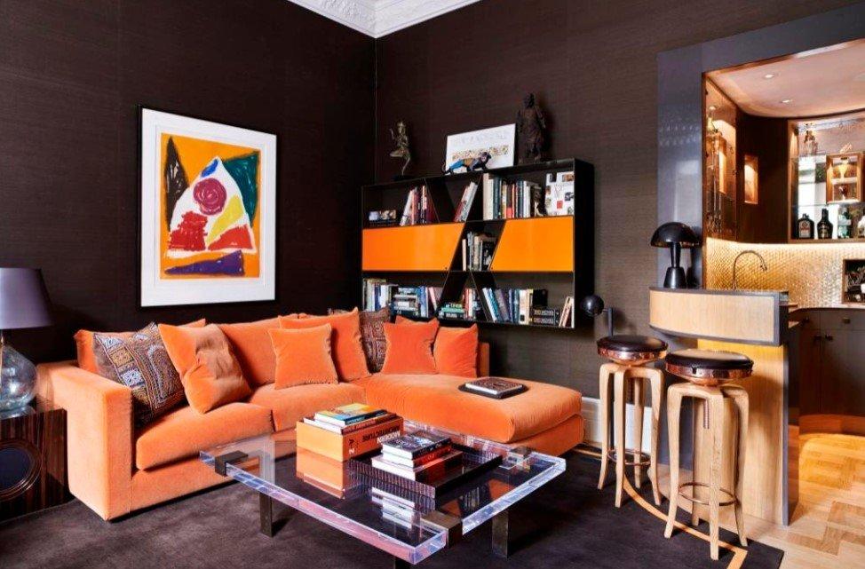https 360decorations com decoration interieur de salon moderne de couleur orange
