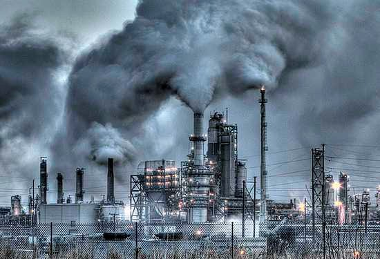 air pollution due to industries in marathi
