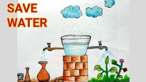 Save Water Drawing Sketch 17 -