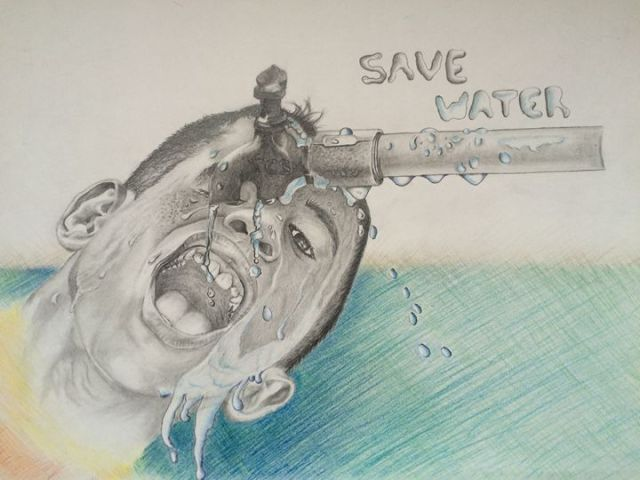 Save water drawings for competition -