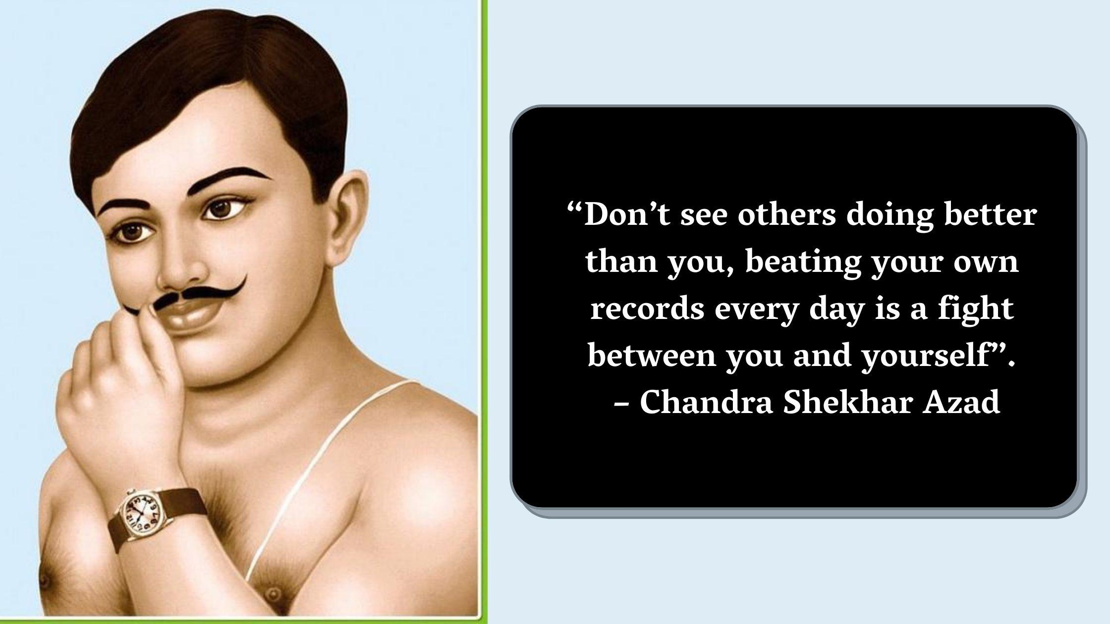 Chandra Shekhar Azad Jayanti Quotes Wishes Images in Marathi Hindi English
