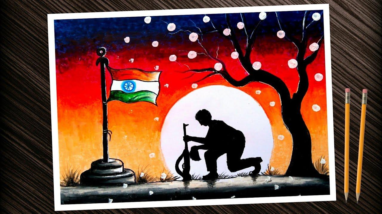 Kargil Vijay Diwas Posters Drawing