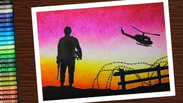 Kargil Vijay Diwas Posters Drawing 15 -