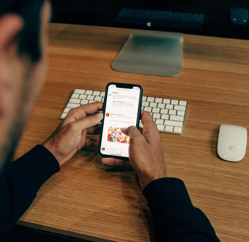 viewing emails on mobile device