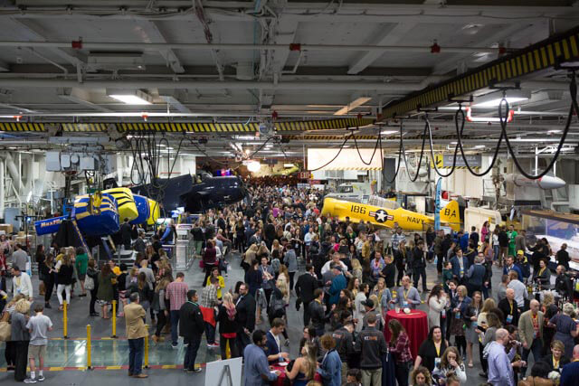 Networking event on the U.S.S. Midway at Social Media Marketing World.