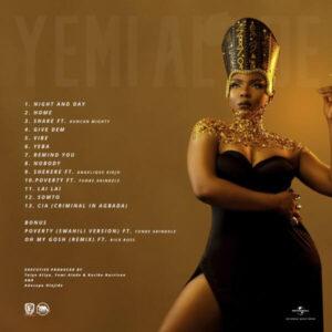 Yemi Alade Woman of Steel Tracklist