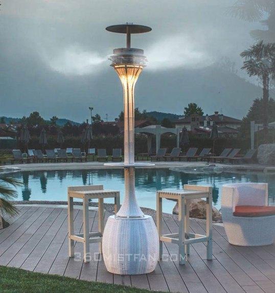Classy mist column 360 misting fan Pidraya-Slim