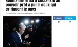 Libération: România - Partidul socialist de la putere e gata să-i pedepsească pe cei care critică țara
